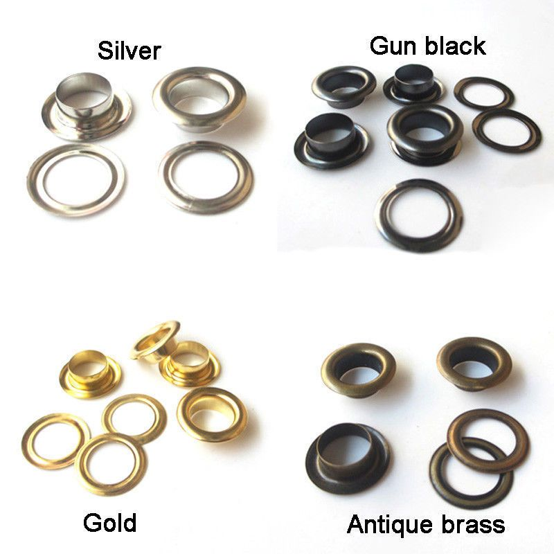 Solid Brass Eyelets and washers Sewing Clothing Grommet diameter 10 12 17mm