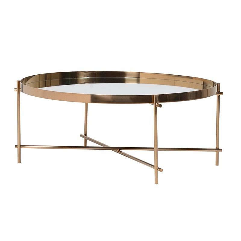 Coach house dlx037 french coffee table mirrored