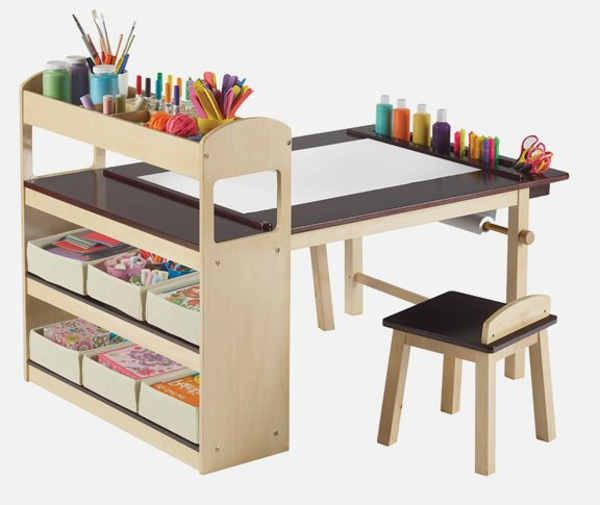 Diy Kids Art Table Kids Art Table Diy Kids Art Table Art Desk