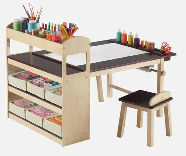 Diy Kids Art Table Kids Art Table Diy Kids Art Table Art Desk