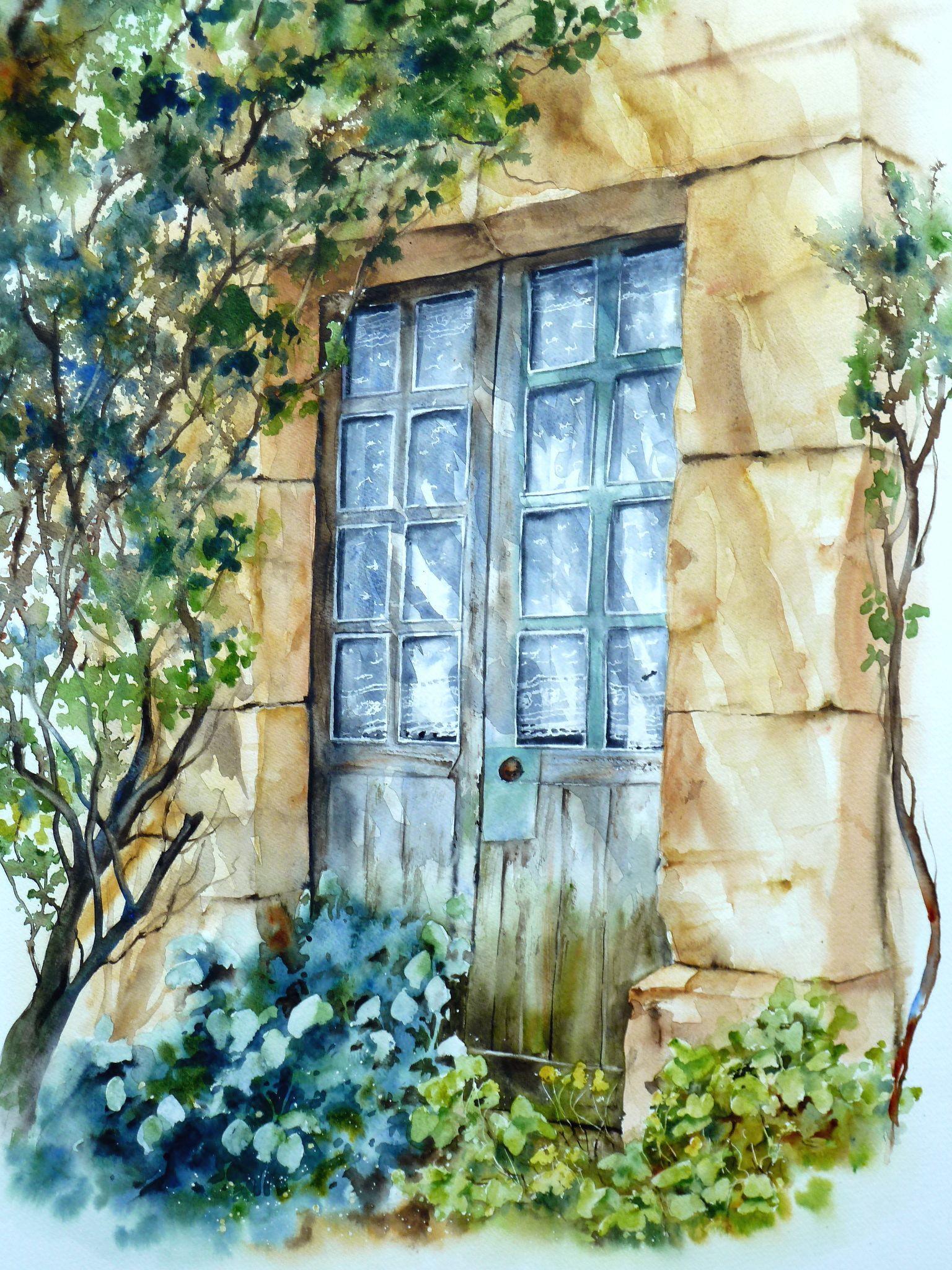 éclats de lumière  Gers aquarelle Anne Larose