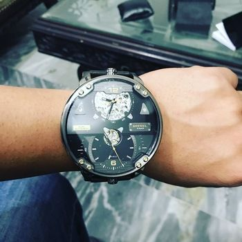 Diesel DZ7365 Double Automatic Leather Limited Edition in 2019 ... aa6e93e2c58