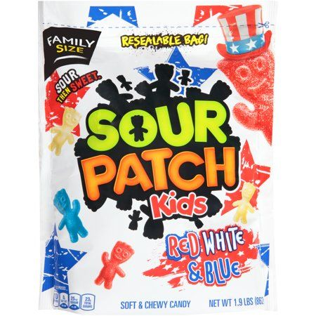 Sour Patch Kids Candy Red White Blue Edition 1 Bag 1 9 Lb Walmart Com Sour Patch Kids Sour Patch Kids Candy