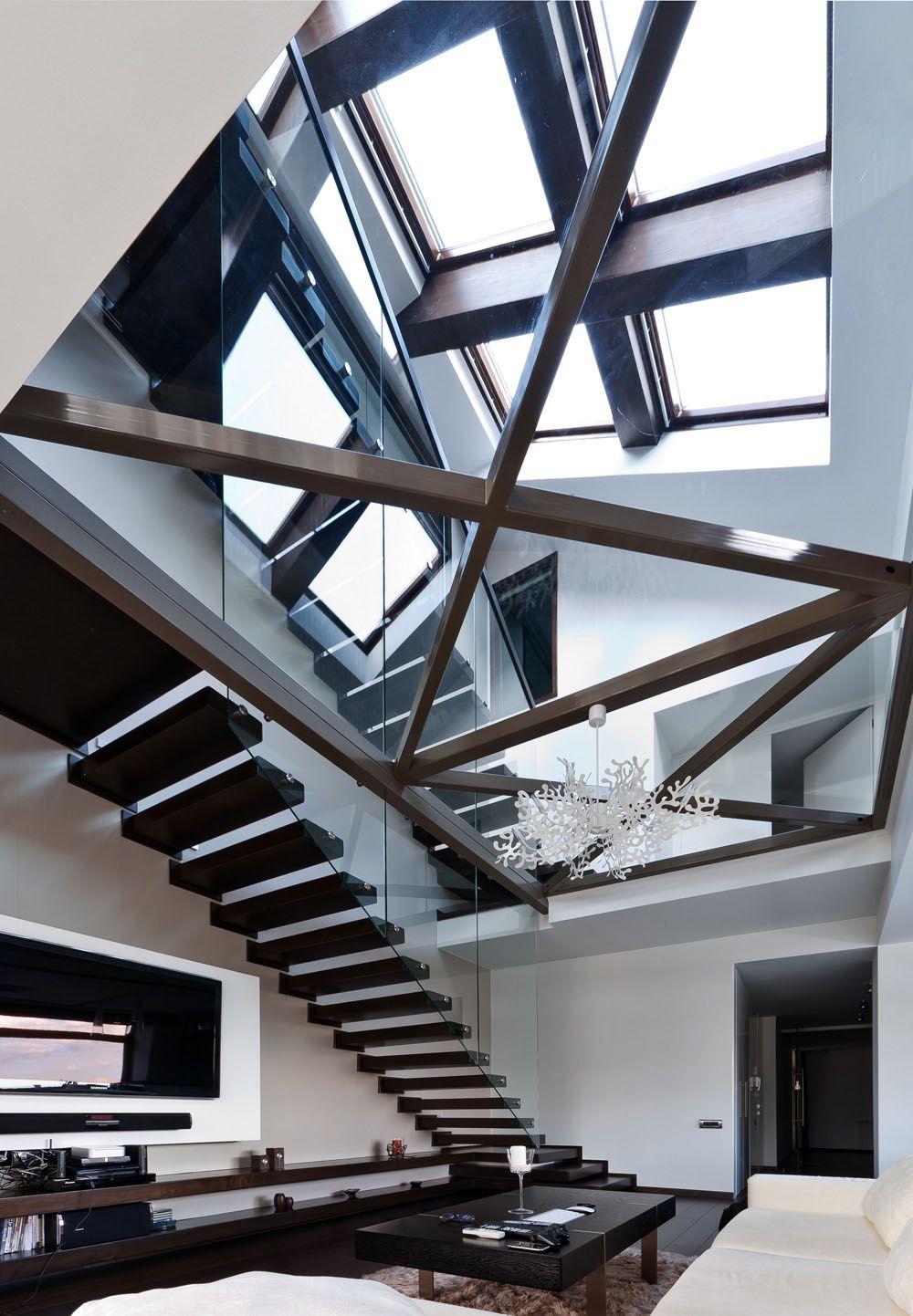 Transparent Loft Interior Design In Romania | iDesignArch | Interior ...