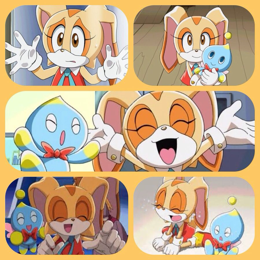I Made This Cream Collage With Sonic X Screenshots I Got Off Bing Sonic Fan Art Sonic Fan Characters Shadow The Hedgehog