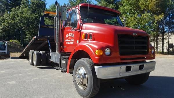 99 Sterling L7500 With Equipment Rollback Sterling Trucks Cat Engines Trucks