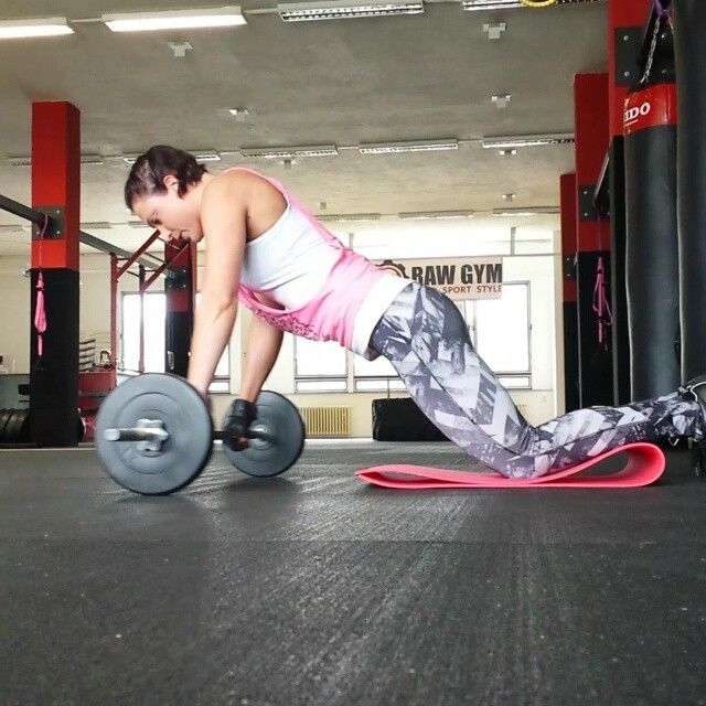 Image result for woman Barbell Ab Rollouts
