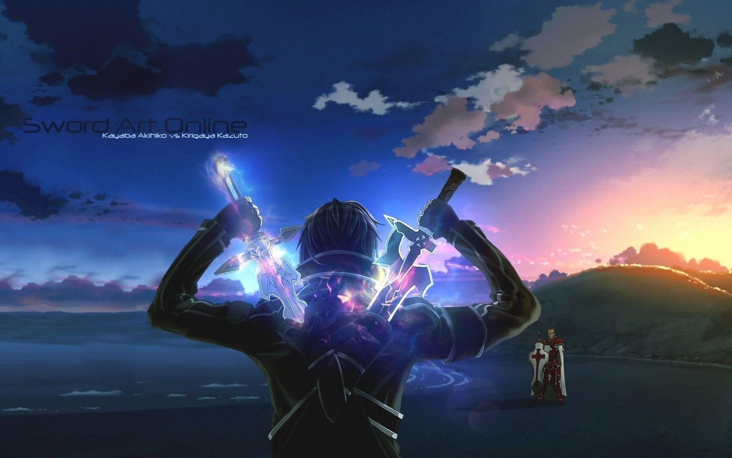 sword art online anime swords upscaled warriors wallpaper (#3021993