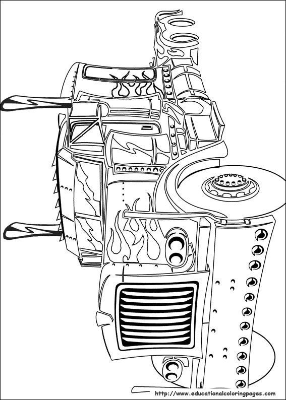 fun kids transformers coloring pages