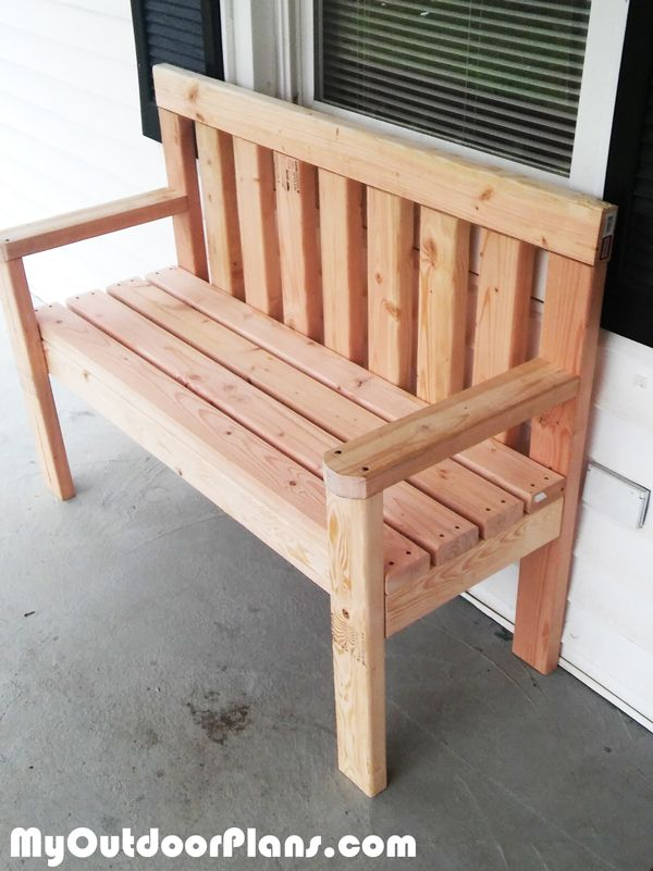 Superior Wooden Bench Ideas Part - 13: DIY Simple Garden Bench MyOutdoorPlans Free Woodworking Plans And Projects,  DIY Shed, Wooden Playhouse, Pergola, Bbq