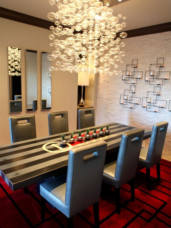 Modern Dining Room Chandeliers Dining Room Design Cool