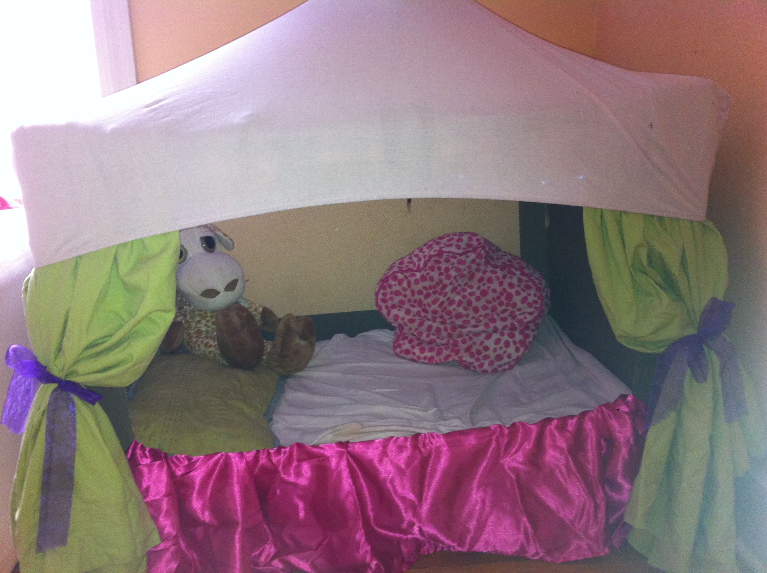 Pack And Play Upcycle Fort Reading Nook I Cut The