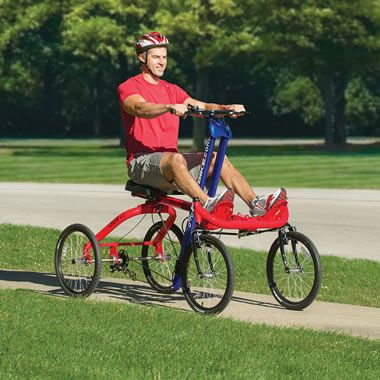 The Only Four Wheeled Rowing Cycle Hammacher Schlemmer With Images Bicycle Rowing