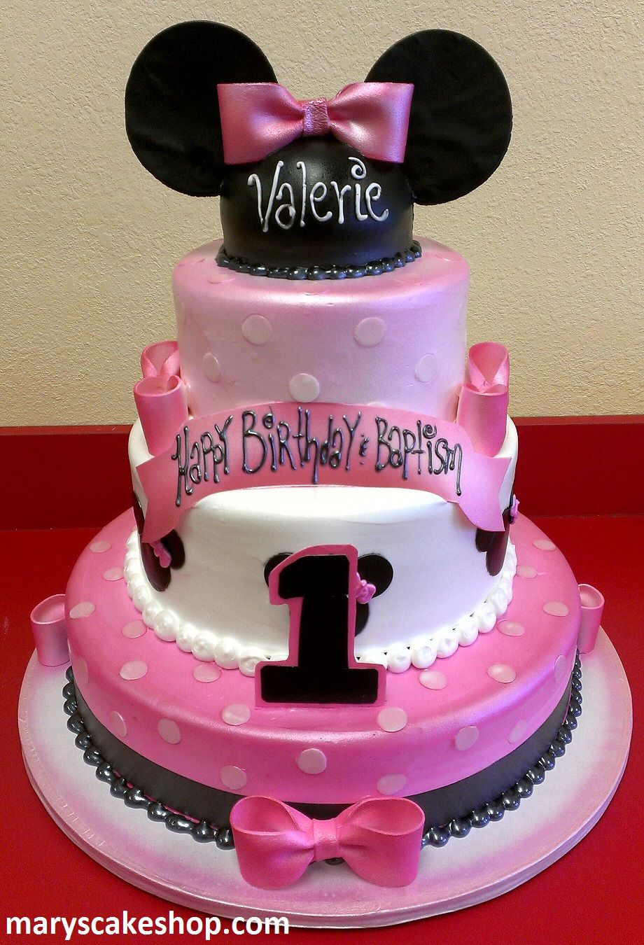 Minnie Mouse Birthday Cake Three Tier Whimsical Pink Ajilbab Com