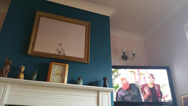 Dulux Feature Wall Teal Tension Matt Emulsion Paint Sitting Rooms Living Rooms And Teal