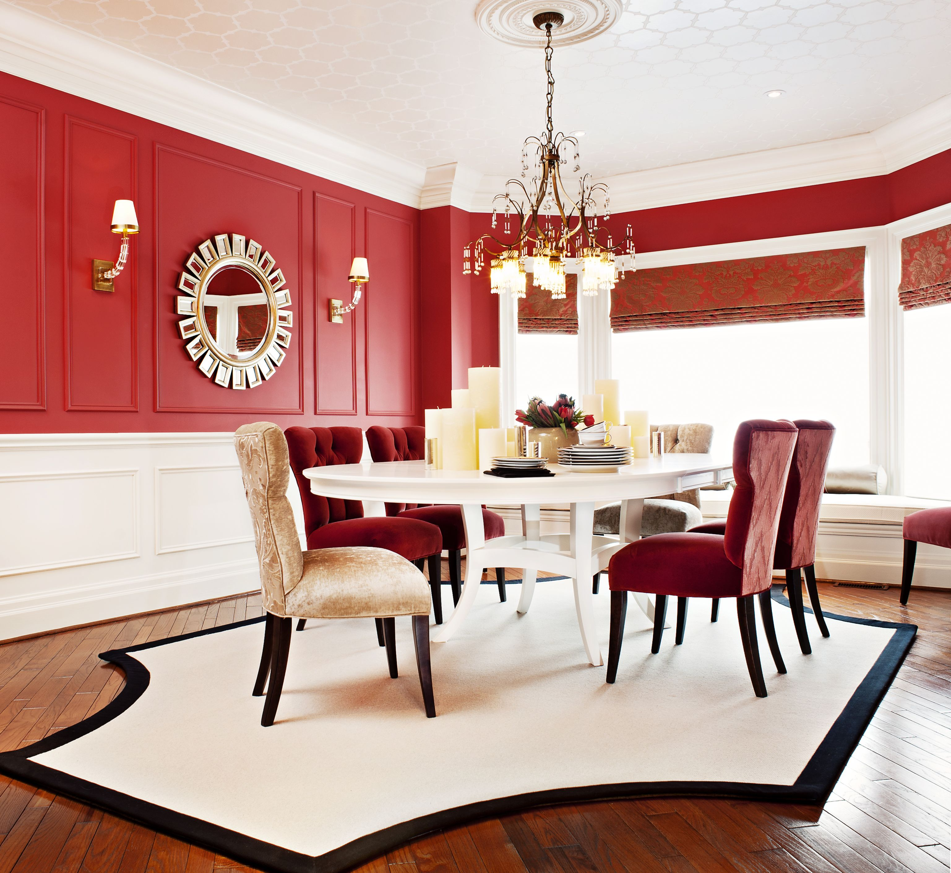 Bold Dining Room by Elizabeth Metcalfe Interiors & Design in Toronto