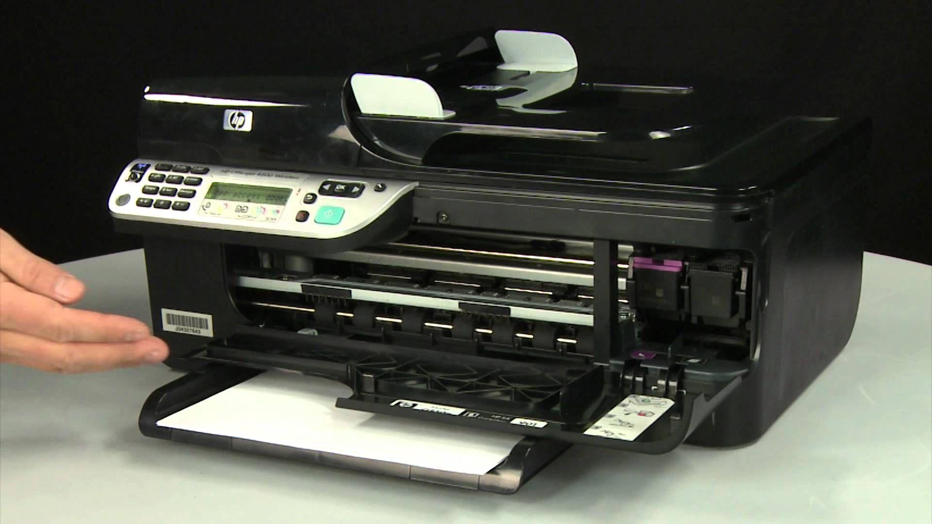 Replacing A Print Cartridge Hp Officejet 4500 Wireless All In One G510n Hp Officejet Printer Ink Cartridges Hp Printer