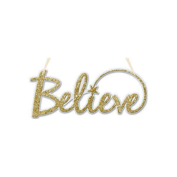 Word Signs Home Decor Captivating Believe Word Sign Gold Ivory $499 ❤ Liked On Polyvore 2018