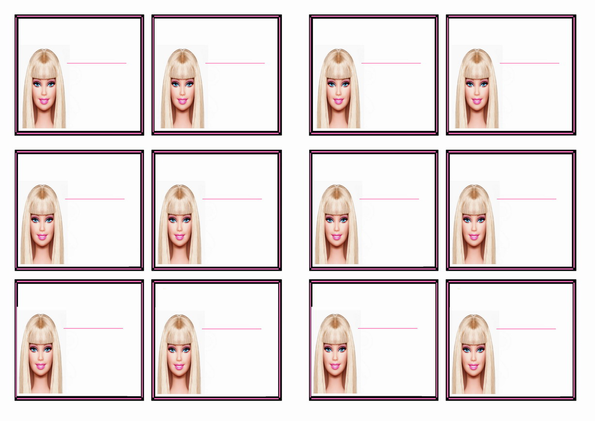 Pin On Barbie Printables