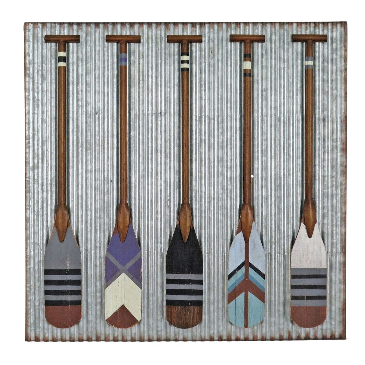 Corrugated Paddle Wall Art (With