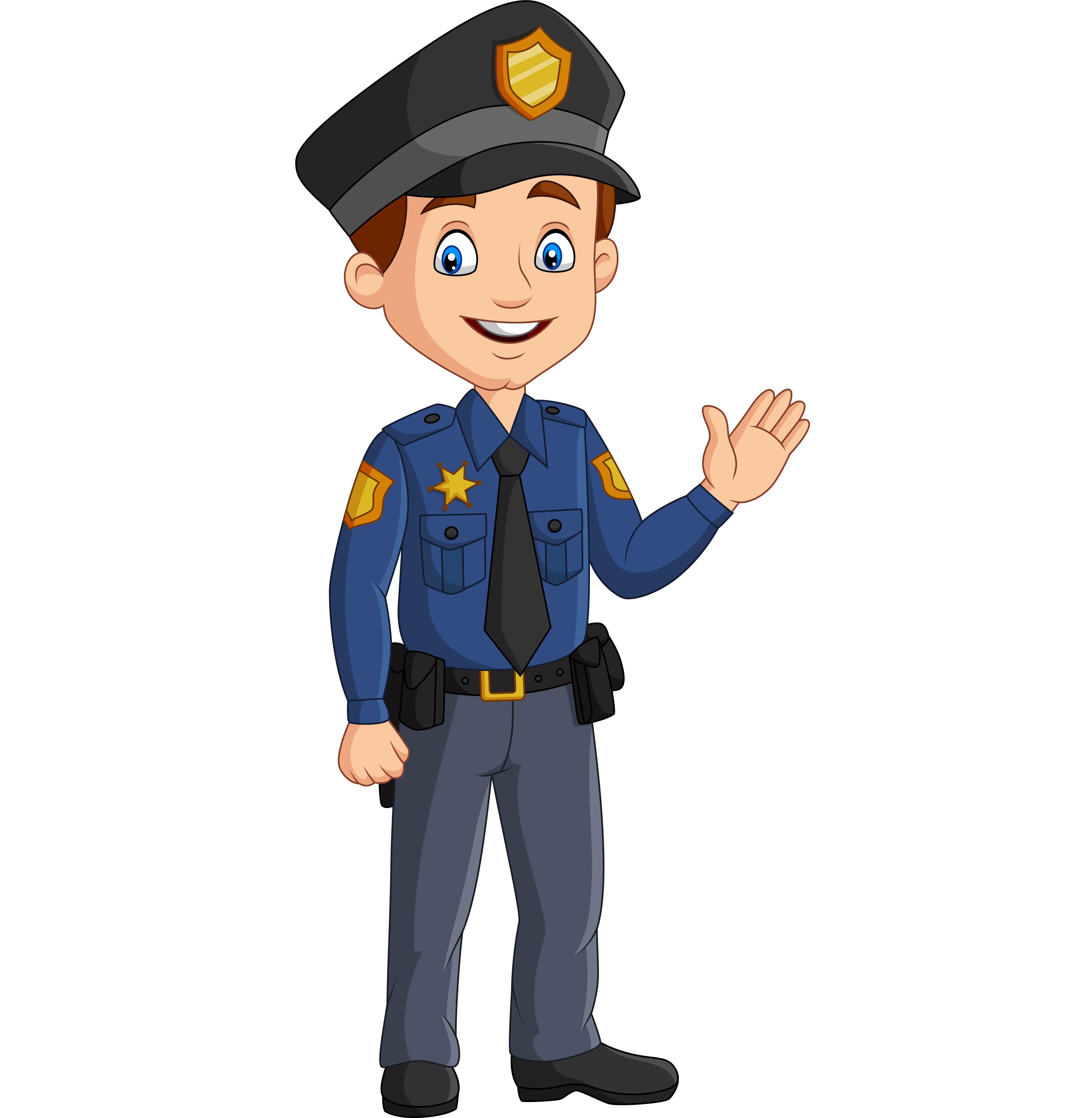 Security Guard Ilustrasi Karakter Kartun Gambar