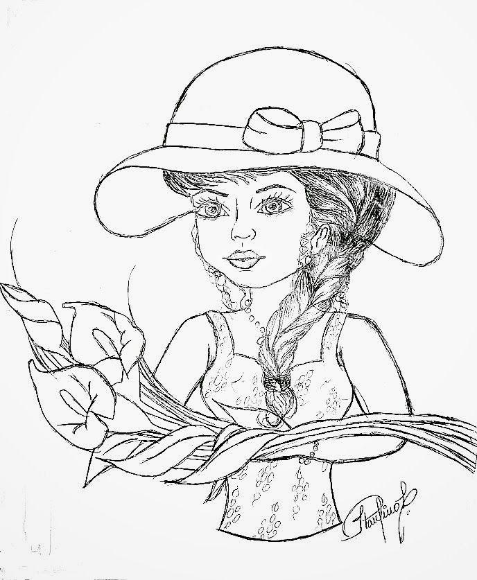 Populares pintura flores riscos | desenho de boneca com ramo de copos de  MM89