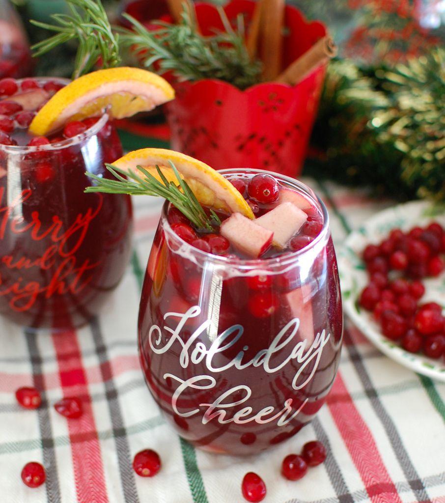 Christmas Sangria Recipe In 2020 Christmas Sangria Christmas Sangria Recipes White Sangria Recipe