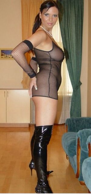 Hot milf in boots