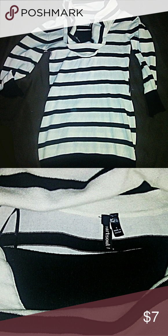 a7c4c26d77d Heart and soul sweater  sweater dress Black and white stripped. Kind of a  cowel