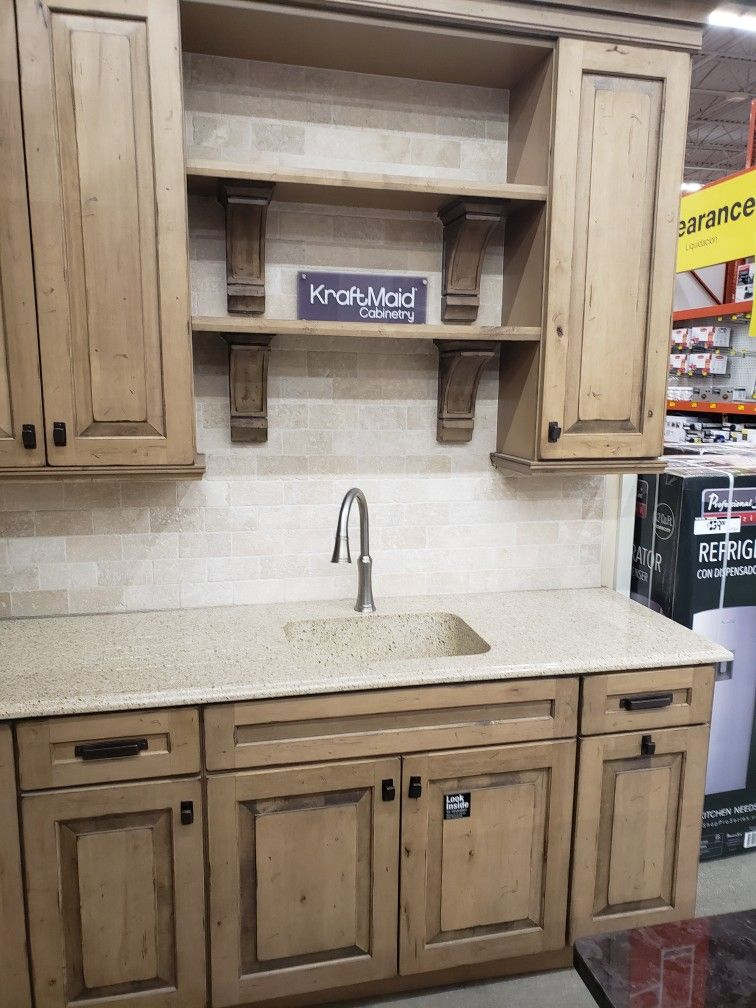 Best Kraftmaid Cabinets From Home Depot Rustic Maple Wood W 400 x 300