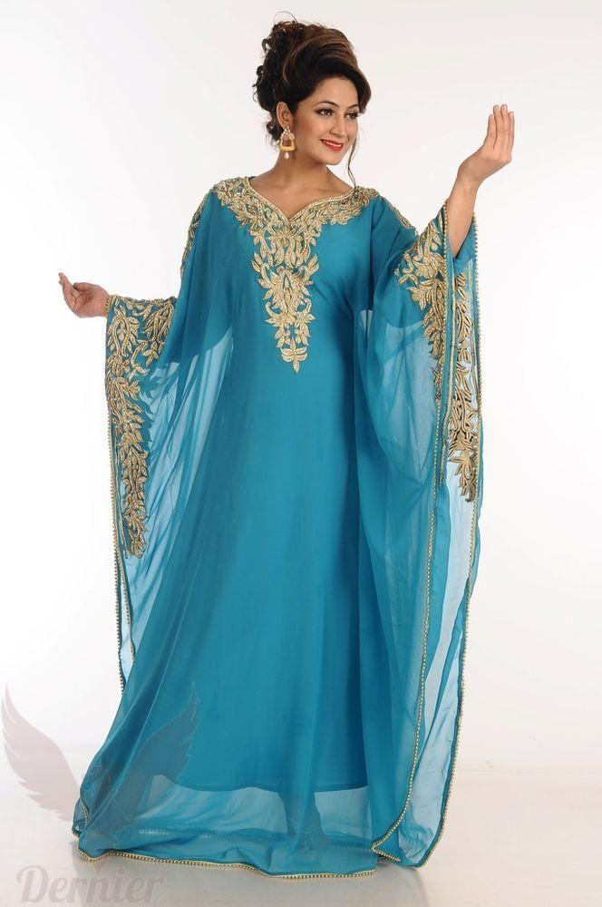 New Green Kaftan Maxi Dress Moroccan New Original Royal Caftan Dress For Women  Luxury kaftan For Weddings Party Bride Dress abbayas