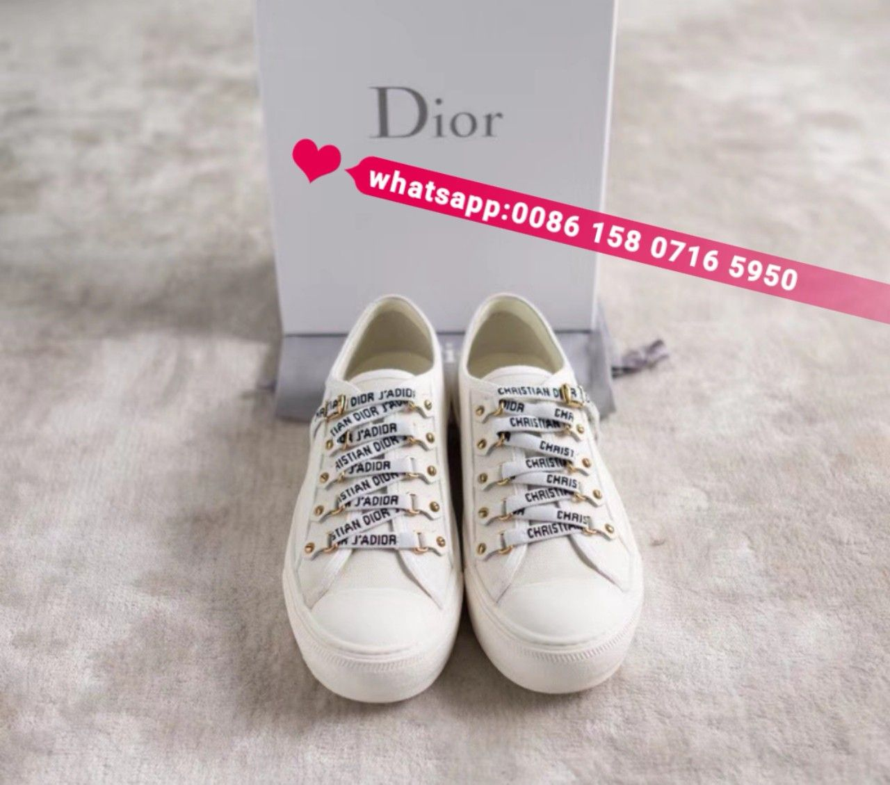 Christian Dior white sneakers trainers