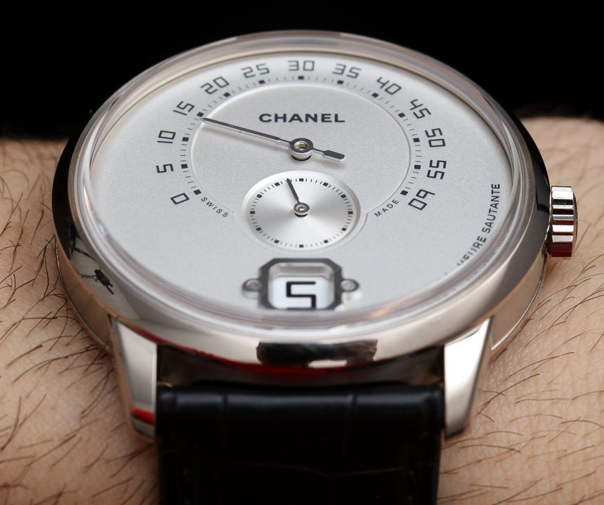 78c9f1517eae9 Chanel Monsieur Watch With First In-House Movement Hands-On - by Ariel  Adams + hands-on photos