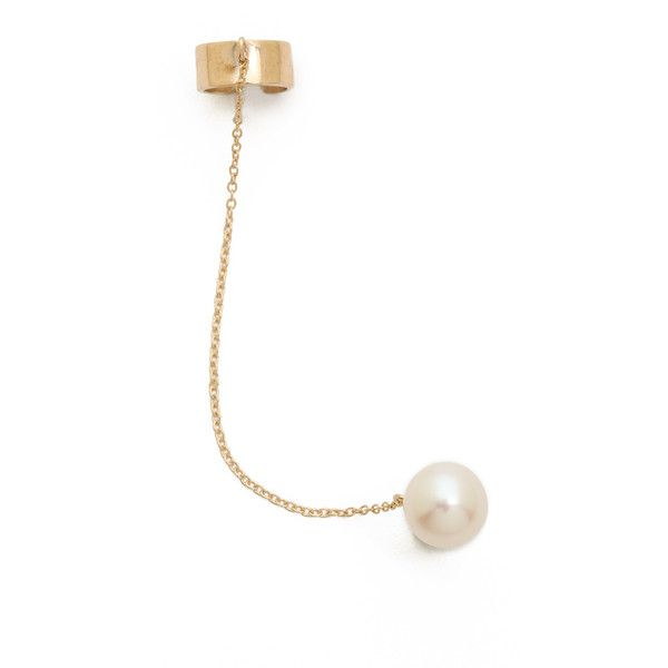 Dannijo Sami Ear Cuff - Gold/Pearl found on Polyvore