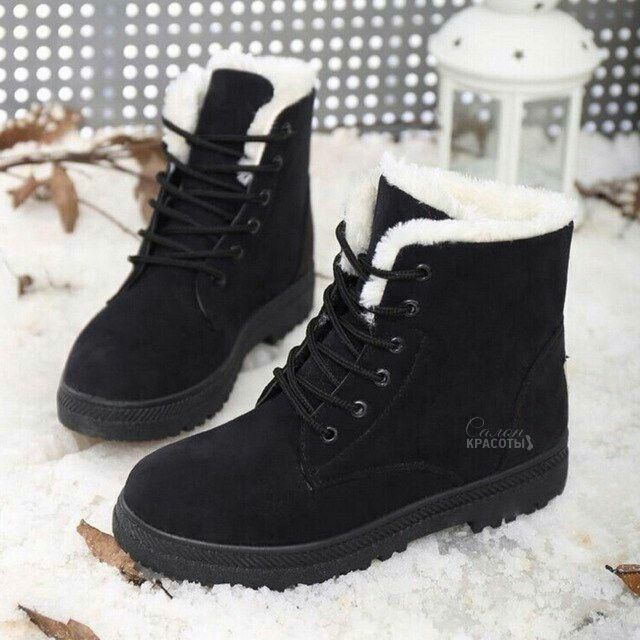 Fashion Womens High Top Snow Boots Winter Boots