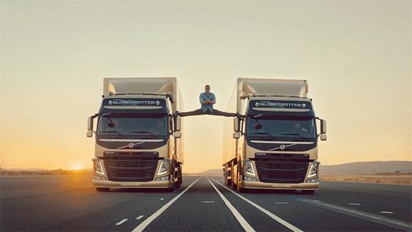 Jean-Claude Van Damme splits between moving Volvo semis, awesomely | Motoramic - Yahoo Autos