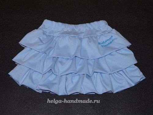 40c18145e Como hacer una falda con olanes paso a paso | ROPA NIÑAS | Como ...