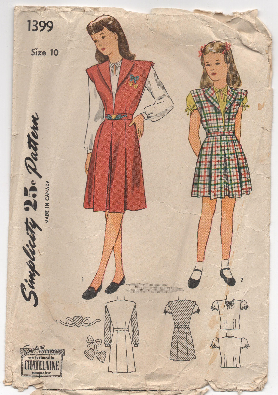 1940s Ladies Blouse