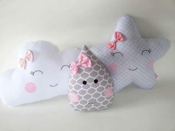 Almohadas y cojines infantiles | Costura | Pinterest | Babies