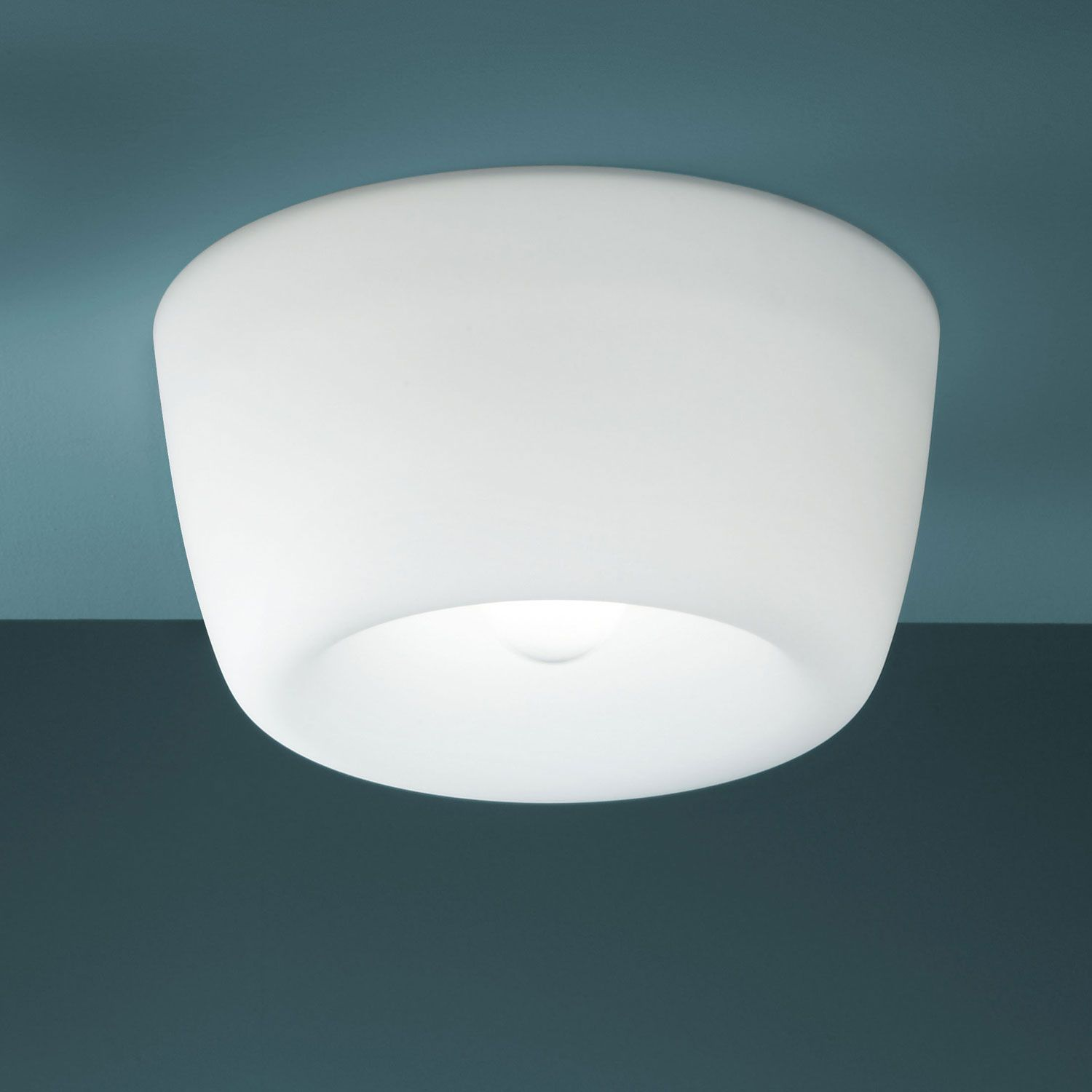 Am Lie (Lighting) Ceiling Lamp With Double Switching White Painted