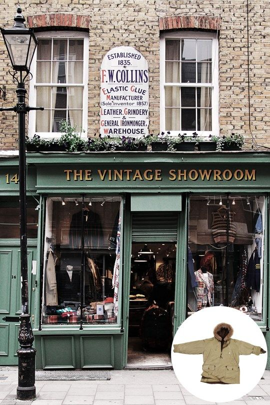The Vintage Showroom The 25 Best Shops In London Vintage Shops Store Fronts Shop Fronts