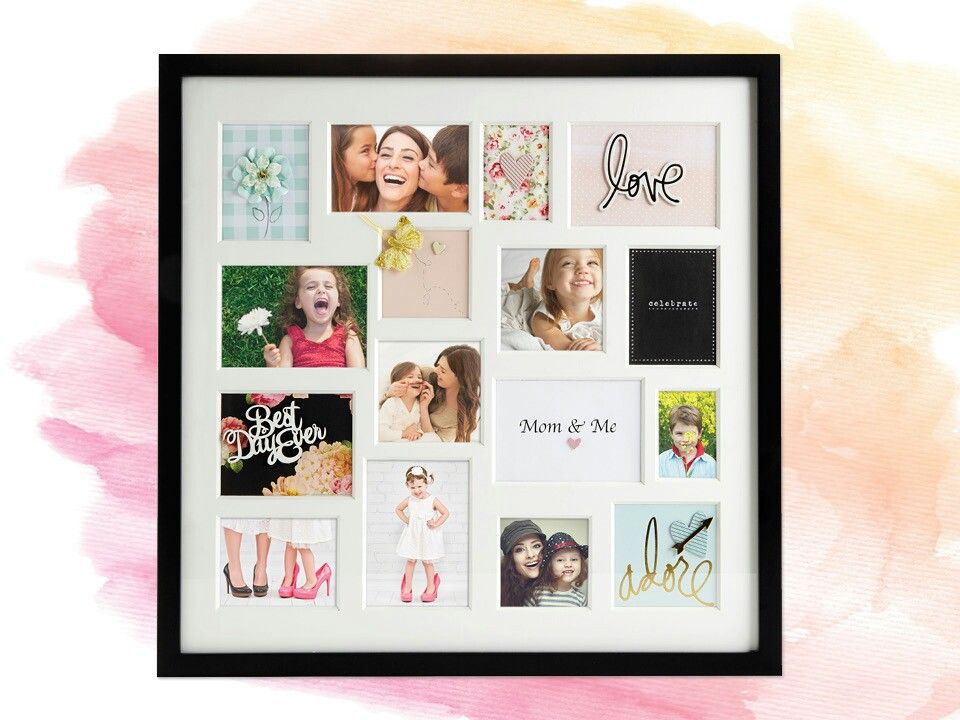 Overwhelmed by 12 openings in a collage frame? Add creative accents ...