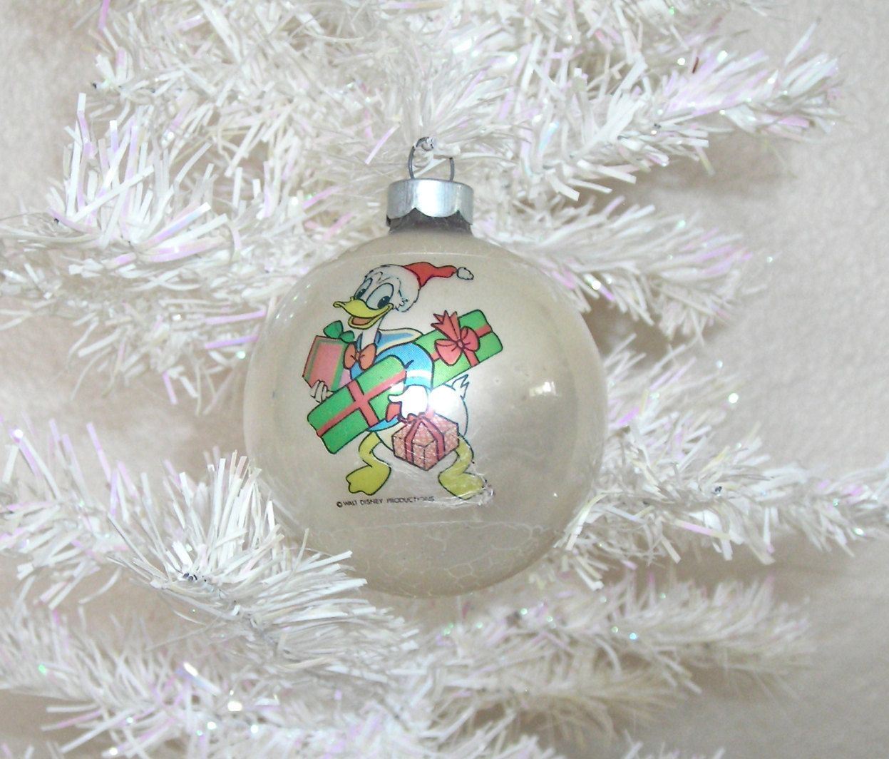 Donald Duck Vintage Glass Christmas Ornament Made In Usa Disney Character Holiday Ball How To Make Ornaments Glass Christmas Ornaments Christmas Ornaments