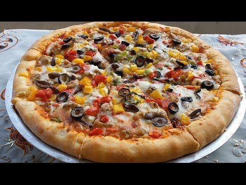 اروع طريقتين لعمل البيتزا أفضل من المحلات بالجبنة المطاطية الشهية مع رباح محمد Youtube Save Food Cooking Food
