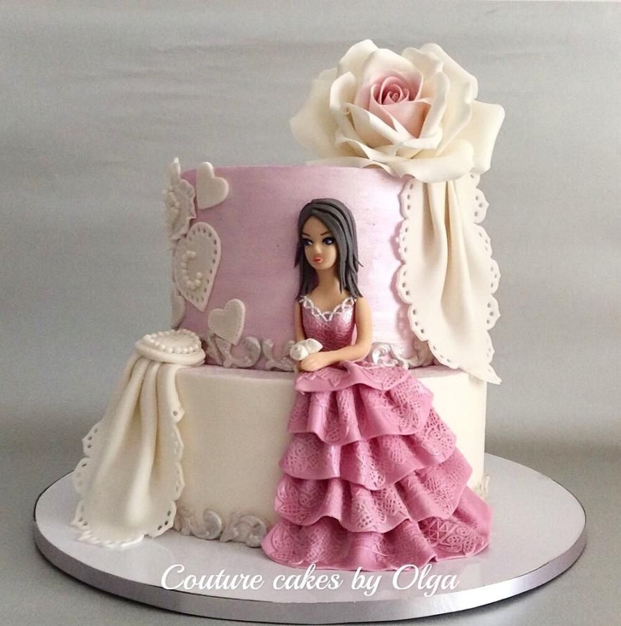 Princess Cake By Couturecakesbyolga Zijkant Cake Pinterest