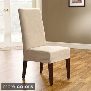 Smooth Suede Shorty Dining Room Chair Covers (Set of 2) | Dining ...