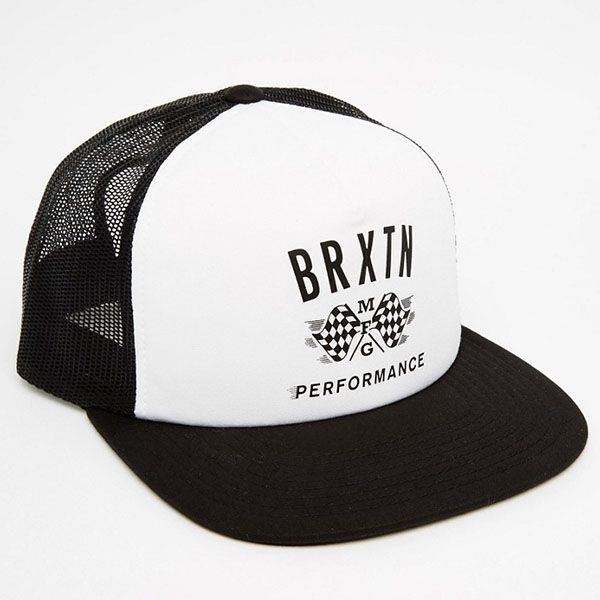Piston Trucker Hat by Brixton- WHITE / BLACK