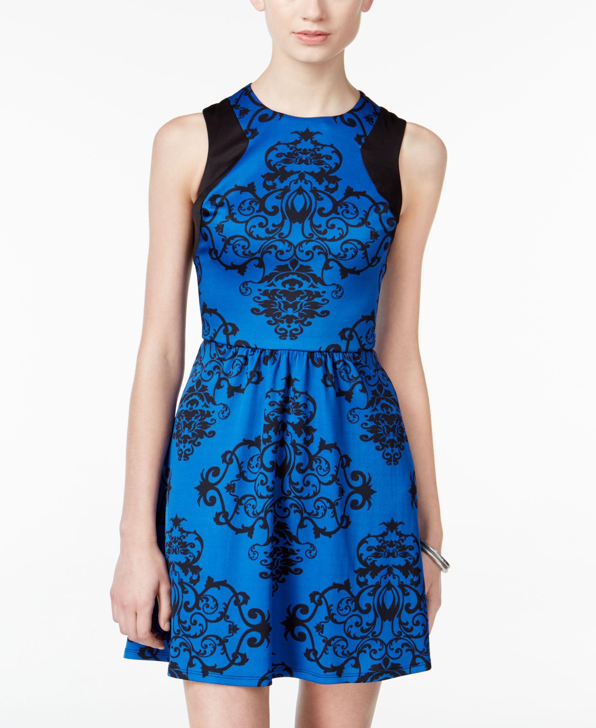 B darlin juniorsu printed fit u flare scuba dress products
