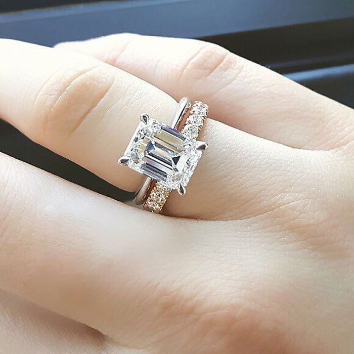 Emerald Cut Solitaire Engagement Ring Engagement Ring And Wedding