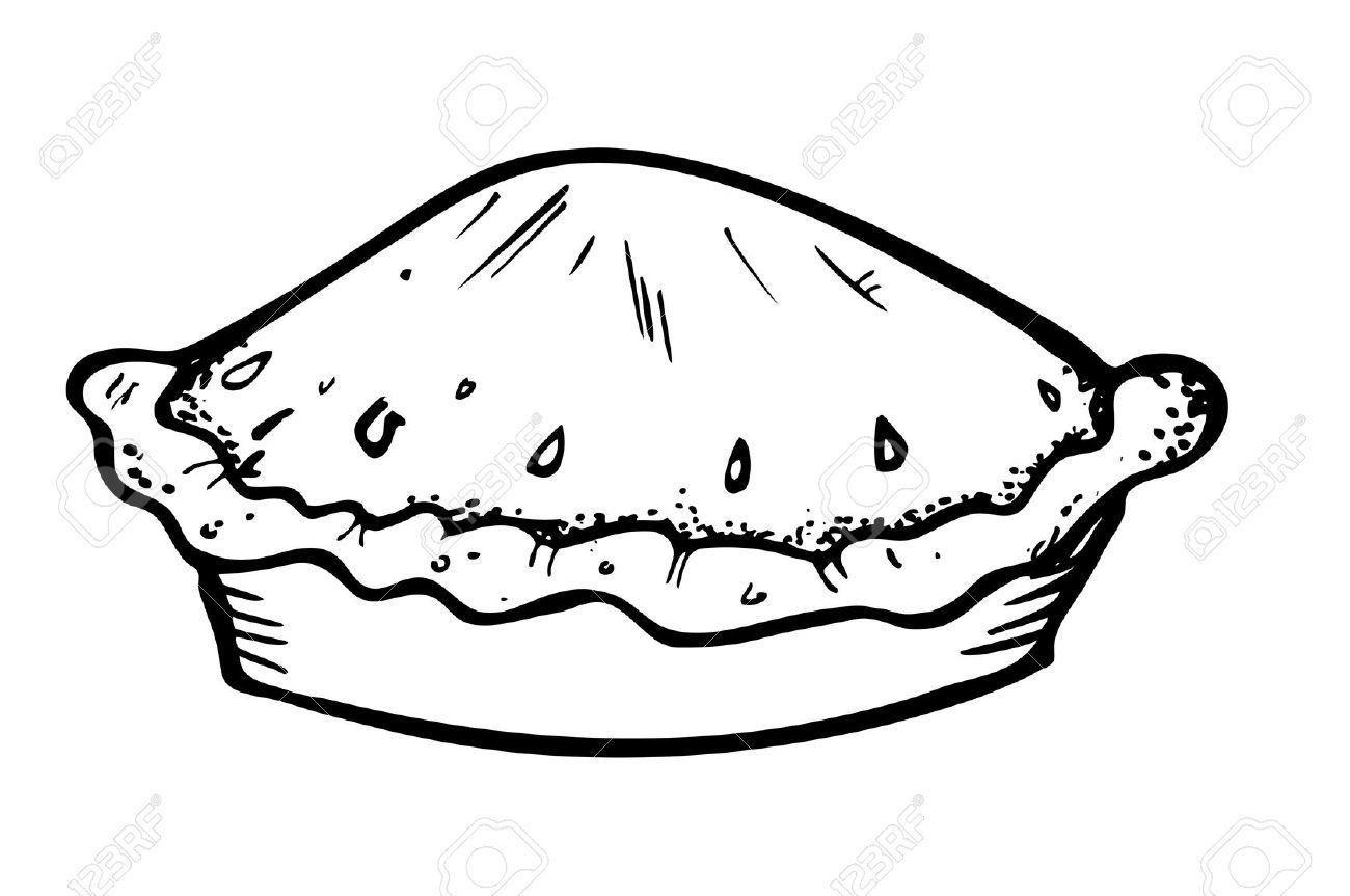 The gallery for --> Apple Pie Clip Art Black White ...